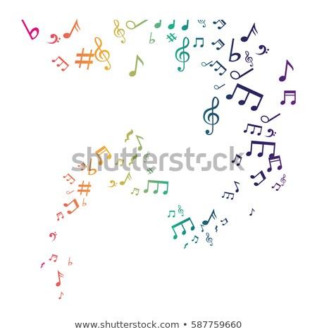 Note musicali verde vettore icona design musica Foto d'archivio © rizwanali3d
