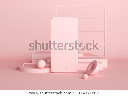 telefoongesprek · verleden · creatieve · foto · mooie · pinup - stockfoto © lom