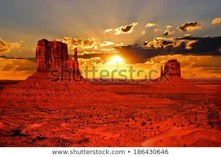 Iconic peaks of rock formations in the Monument Valley  Stock photo © CaptureLight