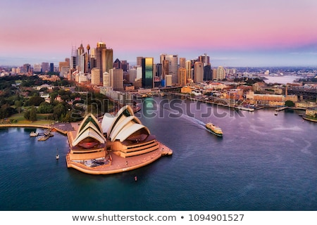 Сидней · Австралия · мнение · паром · воды · дома - Сток-фото © jeayesy