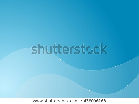Blue wavy curves with anchor points Stock photo © saicle