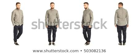 a man in grey shirt walking stock photo © bluering