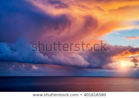 fantasztikus · naplemente · óceán · égbolt · víz · felhők - stock fotó © alinamd