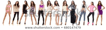 Cute girl in different outfit Stock photo © bluering