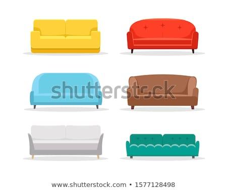 Purple modern sofa vector illustration. Stock photo © RAStudio