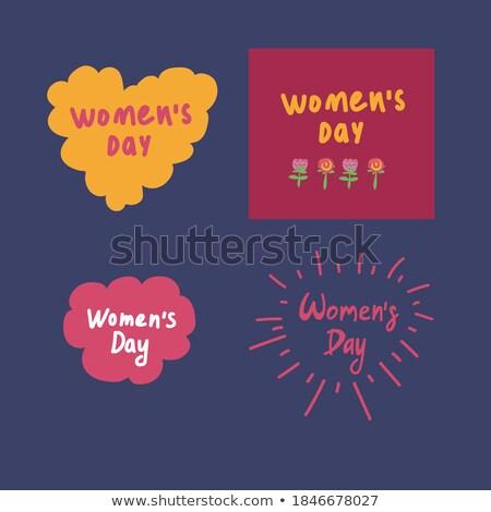 Huit dames écrit blanche bureau visage Photo stock © bluering