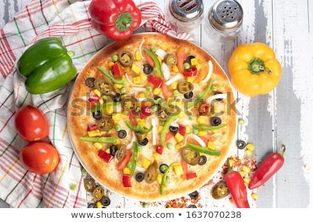 Verde pimenta salame salsicha Foto stock © Digifoodstock
