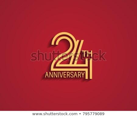24th anniversary celebration badge label in golden color Stock photo © SArts