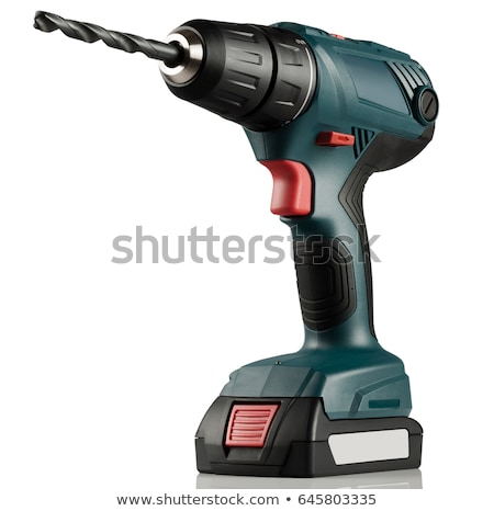 Stock photo: cordless drill isolated