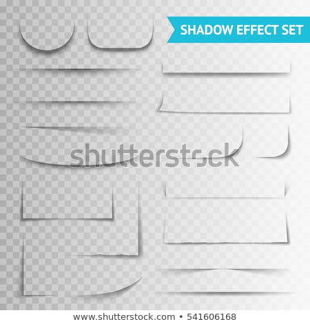 oval paper transparent shadow effect set stock photo © sarts