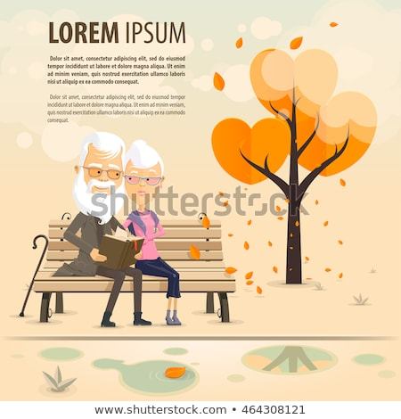 grandfather and grandmother sitting on the bench stock photo © adrenalina