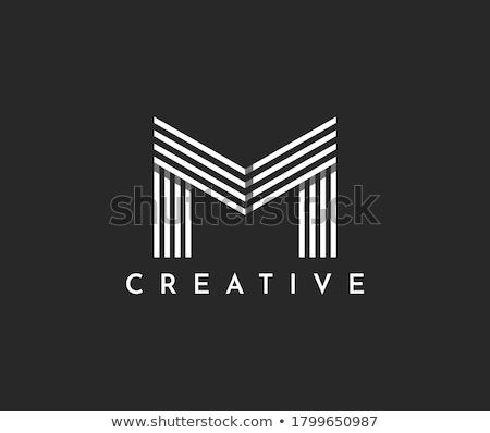 M betű absztrakt logoterv üzlet szín hirdetés Stock fotó © SArts