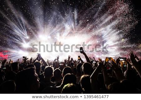 Fans festival de musique discothèque femme Photo stock © wavebreak_media