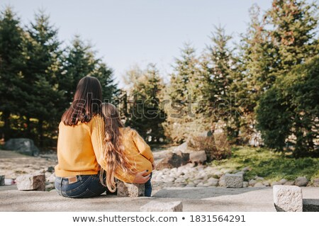 Mother and daughter exploring the world Stock photo © IS2