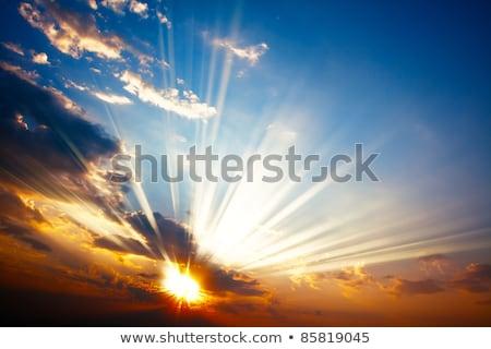 sombre · nuages · sunrise · ciel · soleil - photo stock © artjazz