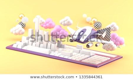 青 ビジネス ツール ボタン キーボード 3次元の図 ストックフォト © tashatuvango