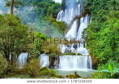 Stock photo: Waterfall down the rock