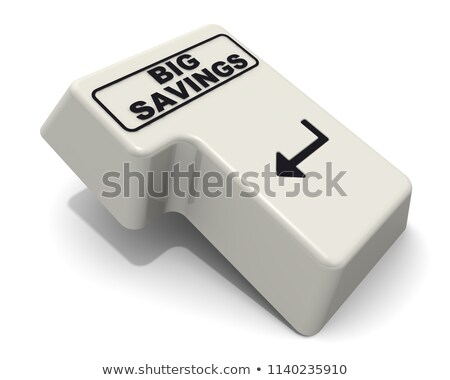big sale   inscription on white keyboard key 3d stock photo © tashatuvango