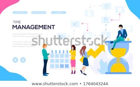 Idő intelligencia üzlet marketing tervez ötlet Stock fotó © Lightsource
