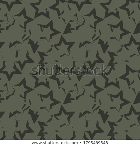 Camouflage star shapes seamless vector pattern. stock photo © yopixart