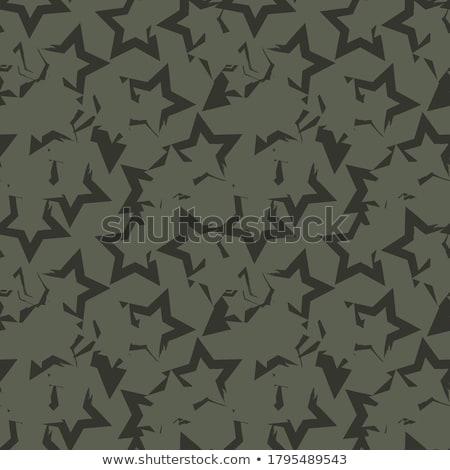 Kamuflaż star bezszwowy wektora wzór Zdjęcia stock © yopixart