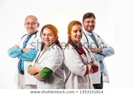 indian · medico · competenza · sorridere · bianco · isolato - foto d'archivio © lunamarina
