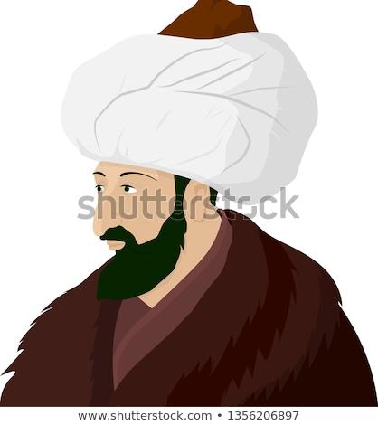 Mutlu karikatür örnek bakıyor erkekler kişi Stok fotoğraf © cthoman