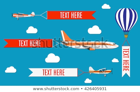 Air flight plane icon in the sky on poster Stock photo © Linetale