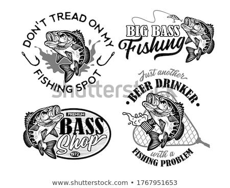 Pescador peixe vetor ícone pescador pescaria Foto stock © robuart