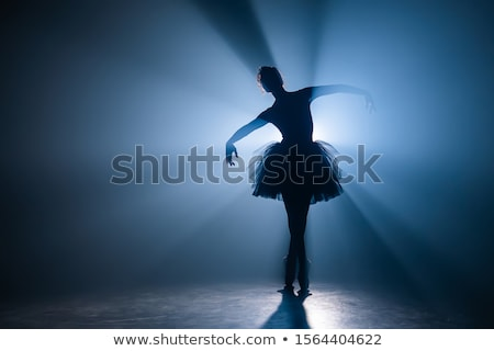 Dansen balletdanser silhouet pose positie vrouw Stockfoto © Krisdog