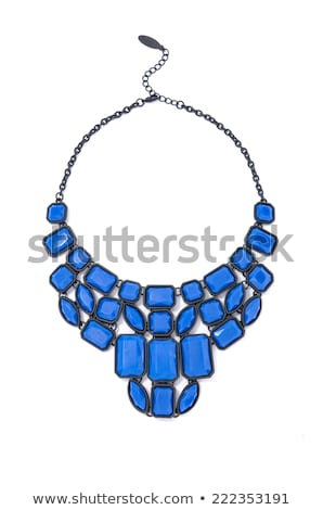 Necklace with blue gems Stock photo © blackmoon979