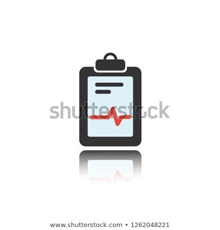 Médicaux graphique couleur icône réflexion blanche Photo stock © Imaagio