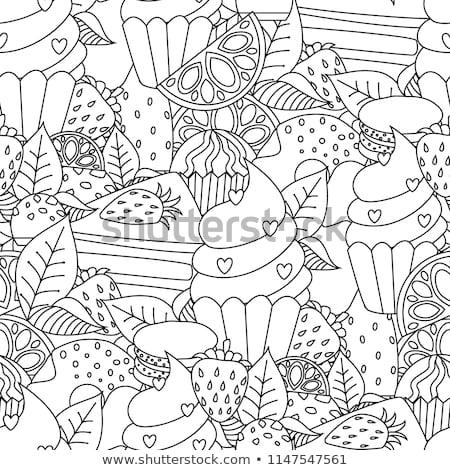 juego · formas · juego · libro · para · colorear · blanco · negro · Cartoon - foto stock © izakowski