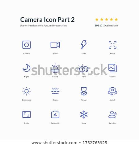 Playa fotografía signo símbolo cámara icono Foto stock © vector1st