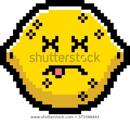 Morti cartoon limone illustrazione guardando stile Foto d'archivio © cthoman