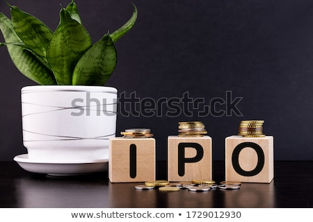 Stacked Coins On Ipo Wooden Blocks Stock photo © AndreyPopov