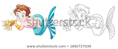 Morza powłoki clipart logo ikona wektora Zdjęcia stock © blaskorizov