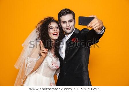 花嫁 ゾンビ スマートフォン 孤立した ストックフォト © deandrobot