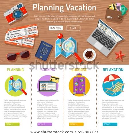 Planning Vacation Infographics Stock photo © -TAlex-