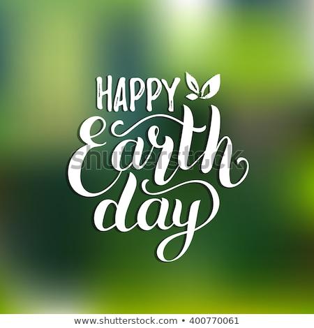 Boldog föld napja gyermek földgömb lány tavasz Stock fotó © choreograph
