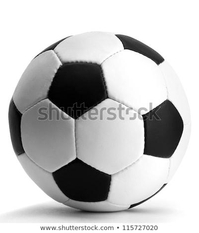 Futballabda fotó tárgy vágási körvonal futball sport Stock fotó © CrackerClips
