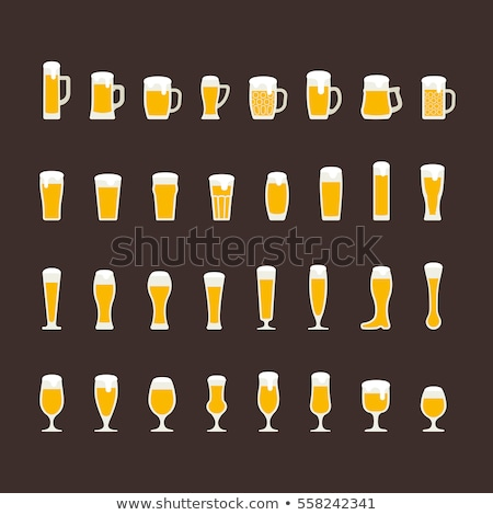 Kehely sör pint alakú üveg fej Stock fotó © albund