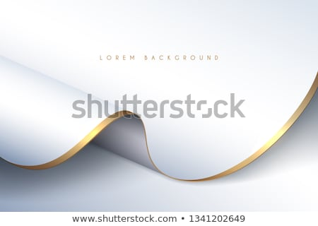 Gold and white curtain Stock photo © Blue_daemon
