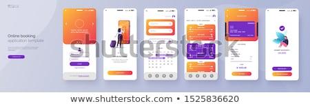 мобильных оплата графического дизайна шаблон вектора изолированный Сток-фото © haris99