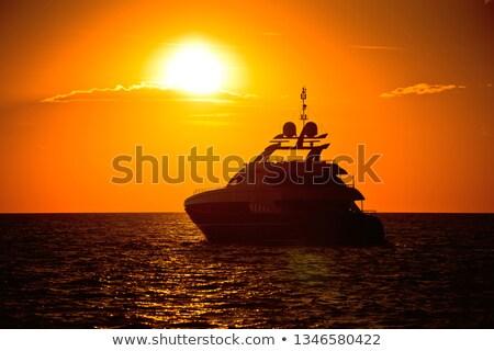 mediterráneo · mar · hermosa · naranja · puesta · de · sol · viaje - foto stock © xbrchx