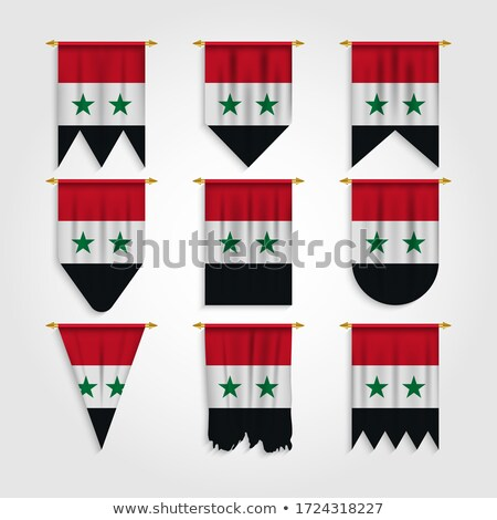 Syria Various Shapes Vector National Flags Set Сток-фото © pikepicture