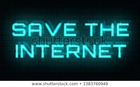 Kod binarny słowa zapisać Internetu centrum tle Zdjęcia stock © Zerbor