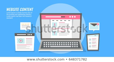 digital journalism and video content vector website template independent journalism flat vector il stock photo © makyzz