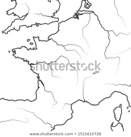 Map of The FRENCH Lands: France, Provence, Normandie, Occitanie, Aquitaine, Lorraine. Chart. Stock photo © Glasaigh