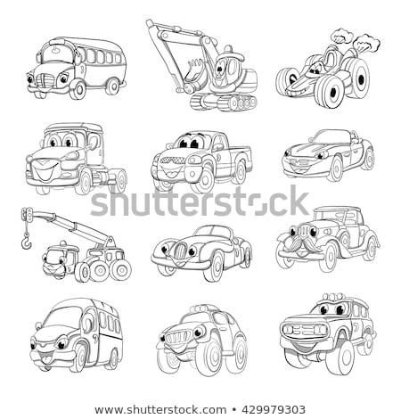 автомобилей · книжка-раскраска · дети · автомобилей · книга · искусства - Сток-фото © izakowski